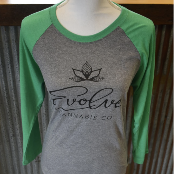 Next level unisex green three quarter sleeve