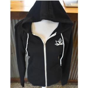 black hooded sweatshirt evolve cannabis company